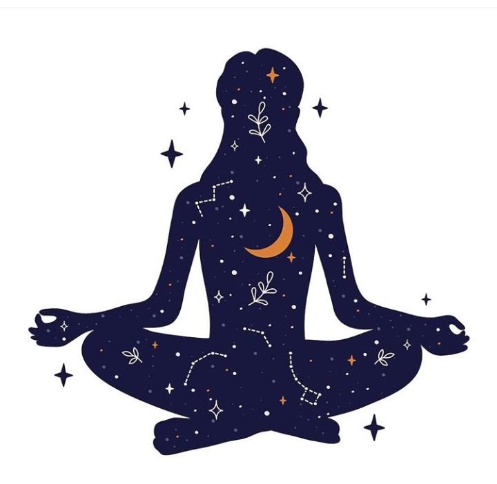 illustration, zen, and yoga image