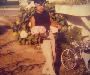 bandana, chicano, and flowers image