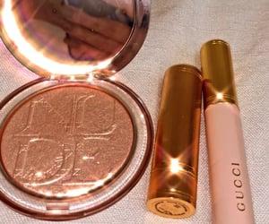 dior, gucci, and makeup image