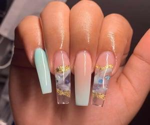 nails, acrylic, and long nails image