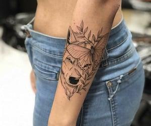 arm tattoo, girl tattoo, and tattoo image