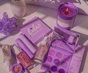 lilac, purple, and make up image