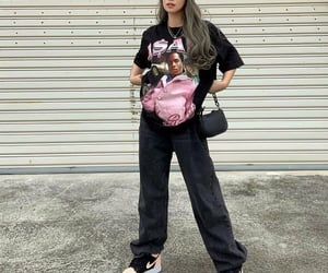 baggy jeans, fashion, and outfit image