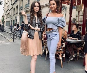 celebrity, outfit, and lily collins image