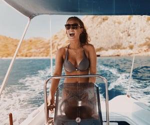 bikini, boat, and captain image