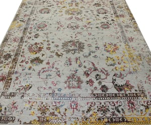 home decor, wool rug, and hand knotted rugs image