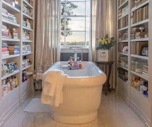 bathroom and books image