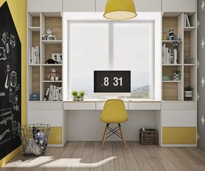 study room, study room ideas, and study room design image