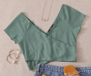 clothes, summer clothes, and green shirt image