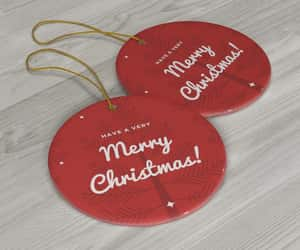 christmas ornaments, etsy, and round image