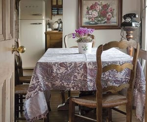 kitchen, mauve, and table image