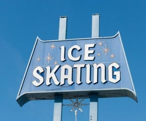 ice skating, aesthetic, and blue image
