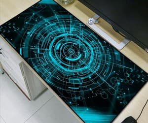 green light, mouse pad, and extra large image