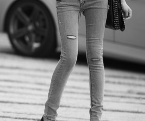 skinny, jeans, and legs image