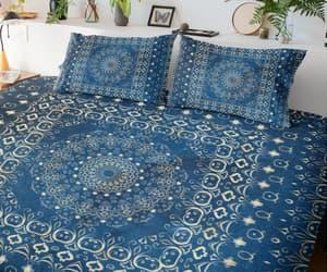 bedroom, boho, and blue image