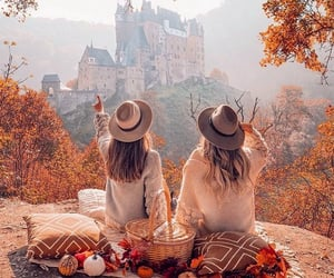 autumn, besties, and castle image