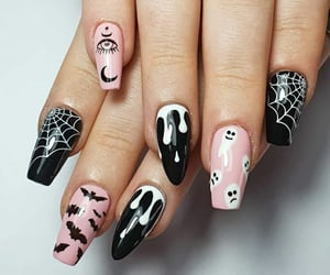 black, unhas, and fashion image