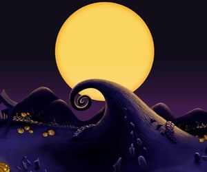 Halloween, background, and nightmare before christmas image