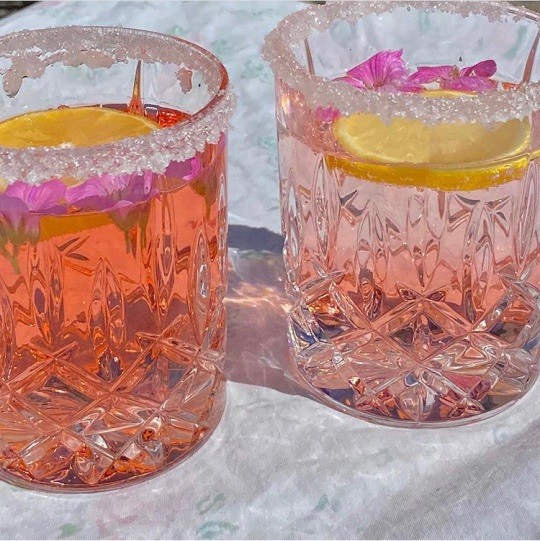 drinks, pink, and food image