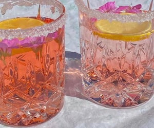 drinks and pink image