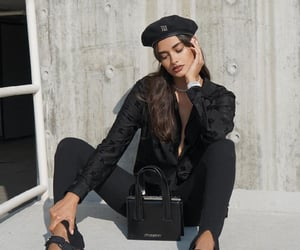 fashion, all black outfit, and model image