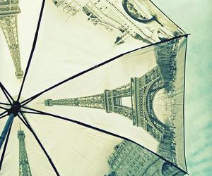 paris, umbrella, and eiffel tower image
