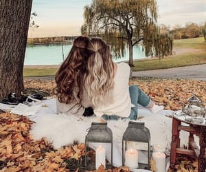 autumn, best friends, and besties image