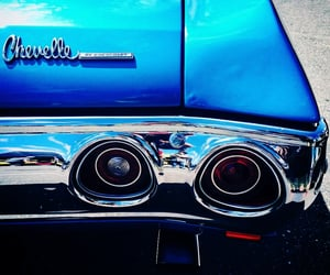 automobiles, blue, and musclecars image