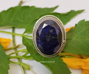 oval ring, sapphire jewelry, and sapphire ring image