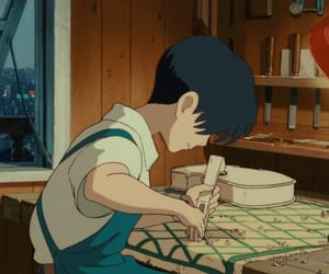 anime, studio ghibli, and violin image