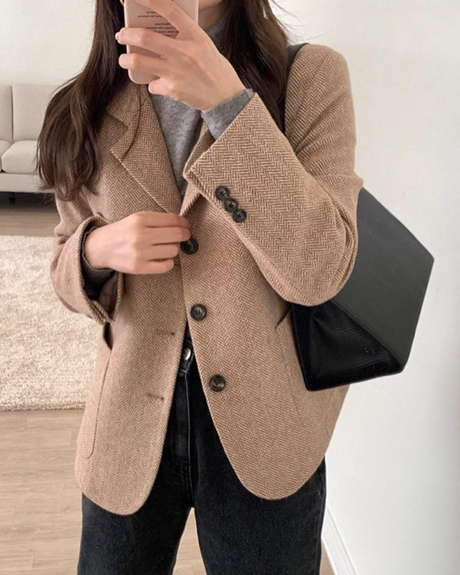 autumn, beige, and coat image