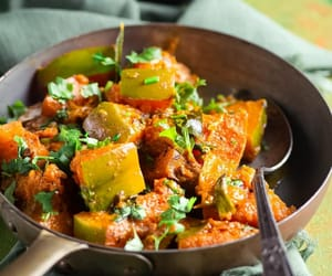 indian food, asian food, and pumpkin curry image