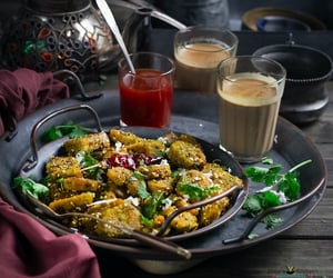 breakfast, fritter, and indian food image