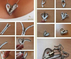 diy, zipper, and necklace image