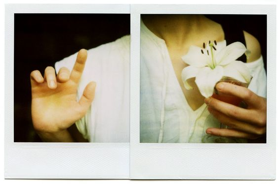 flower, girl, and hands image