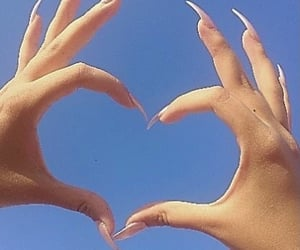 nails, aesthetic, and heart image