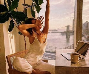 girl, morning, and aesthetic image