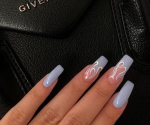 nails, aesthetic, and blue image