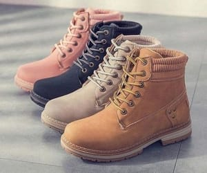 timberland boots, combat boots with coat, and combat boots in black image