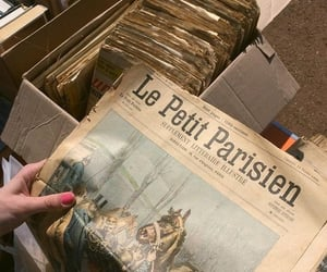 aesthetic, newspaper, and french image