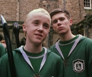 chamber of secrets, draco malfoy, and slytherin image
