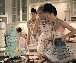 cake, girl, and dress image