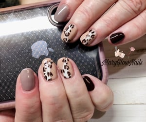 nails, gel manicure, and opi image