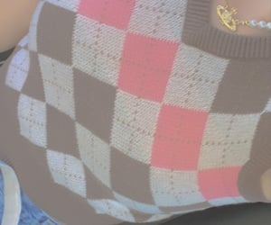 argyle, brown, and pink image