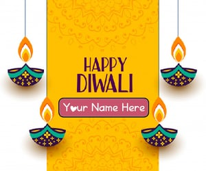 happy diwali pictures and make your name write image