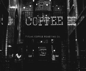 cafe, outside, and black & white image