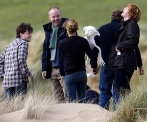behind the scenes, emma watson, and harry potter image