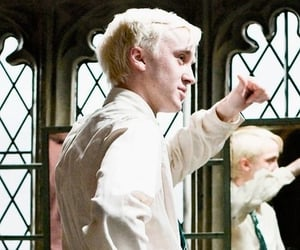behind the scenes, cast, and draco malfoy image