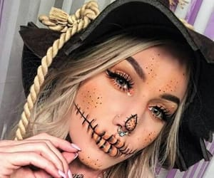 Halloween, scarecrow, and autumn image