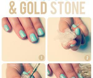 nails, gold, and diy image